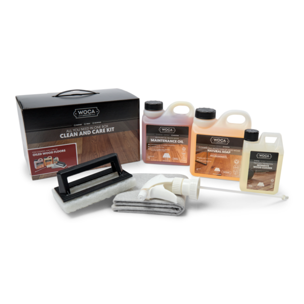 Producten in de WOCA Onderhoudsbox 699963EXP clean and care kit oil with contains A