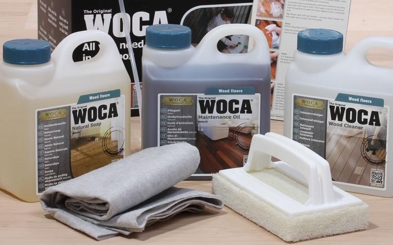 WOCA onderhoudsproducten voor houten vloeren