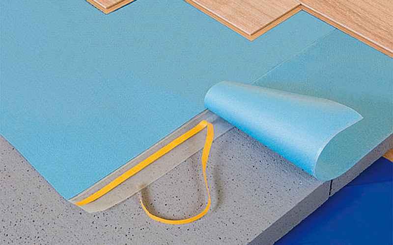 Bluefloor ondervloer van unifloor bij RIGA vloeren